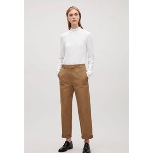 COS Straight Canvas Trousers